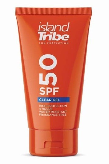 Island Tribe - SPF 50 Clear Gel 50ml Sunscreen