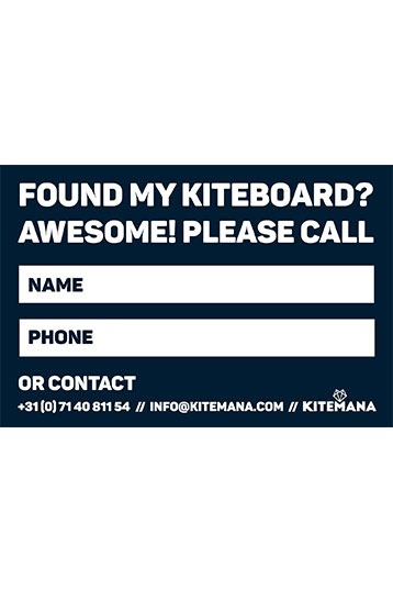Kitemana - Lost Found Kiteboard Sticker
